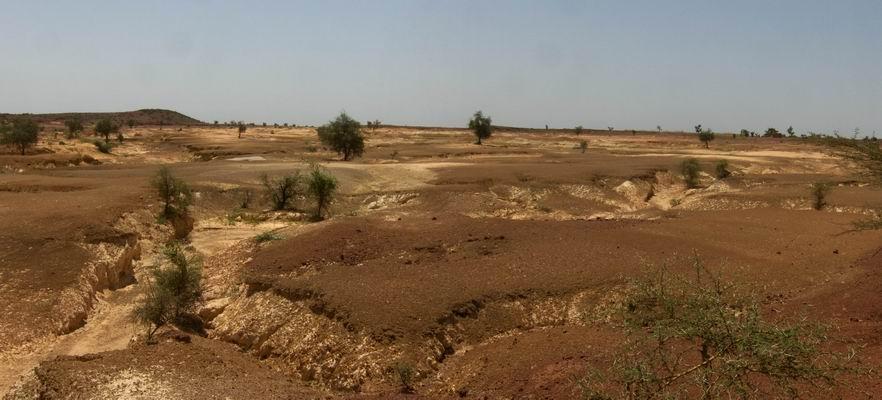 Zone désertifiée Kaya Burkina Faso 2009